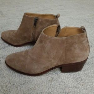J. Crew tan suede leather booties 8
